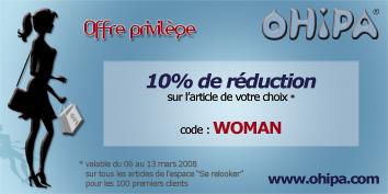 Offre privilège : 10% de réduction